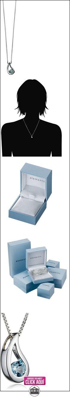 Elements P2621T/N217 - Collar de mujer de plata con topacios, 46 cm  ✿ Joyas para mujer - Las mejores ofertas ✿ ▬► Ver oferta: https://comprar.io/goto/B001660NZO