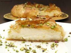 Dulce Real (de Siria) - MisThermorecetas Mediterranean Kitchen, Mediterranean Recipes, My Dessert, Dessert Recipes, Desserts, Flan, A Food, Food And Drink, Lebanese Recipes