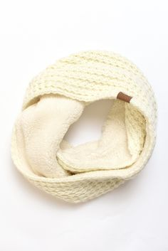 Infinity cable knit scarf
