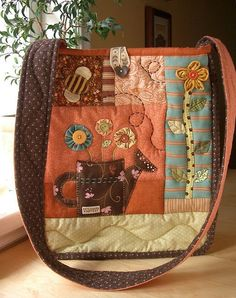 SpringTime bag 3 - front by PatchworkPottery, via Flickr