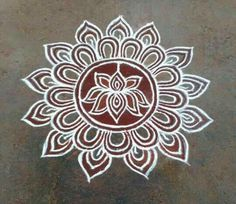 Rangoli Kolam Designs on Happy Shappy in Here you can find the most beautiful & Simple design, photos, images, free hand and more in Small & Large design Ideas Rangoli Patterns, Rangoli Kolam Designs, Rangoli Ideas, Kolam Rangoli, Mehandi Designs, Easy Rangoli, Lotus Rangoli, Small Rangoli, Stencil Designs