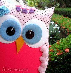 purple owl pillow!!