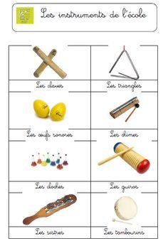 Les instruments de l'école