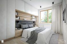Mieszkanie 92m2 - Sypialnia, styl nowoczesny - zdjęcie od Pracownia Architektoniczna Małgorzaty Górskiej-Niwińskiej
