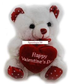 Valentine Bear Teddy Bear Bow Pink Polka Dot Bow VDay Gift Party Valentine/'s Day Bow Pink Dots