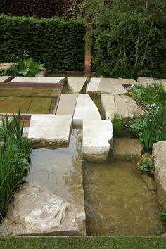 Limestone slabs at Sarah Price's garden Chelsea Flower Show