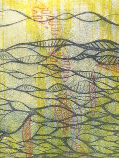 DNA Strands Print - Original Art via Etsy.