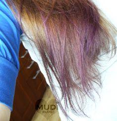 gencjana-farbowanie końców włosów na fioletowo