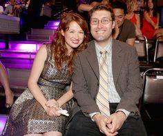 American actress, Ellie Kemper and husband, Michael Koman...
