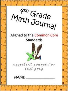 Math journal 4th grade Common Core aligned extended responses