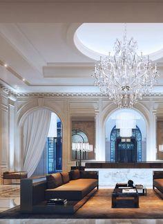 Classic interior - Four Seasons hotel, CGI by Visual Studio