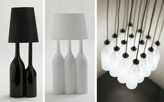 40 ideas para decorar con lámparas botella - Decofilia.com