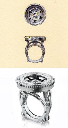 The Markin Aperture No. 2 Ring: a New Marvel of Jewellery Design Funky Jewelry, Jewelry Shop, Man Jewelry, Jewelry Design, Fashion Jewelry, Jewellery Sketches, Jewelry Drawing, Jewelry Sketch, Antique Rings