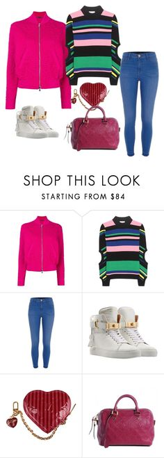 """Без названия #1306"" by katya-ukraine on Polyvore featuring мода, Alexander McQueen, J.W. Anderson, River Island, BUSCEMI и Louis Vuitton"