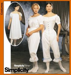 Simplicity 9769 Civil War Undergarments - Recommended by PatternReview.com