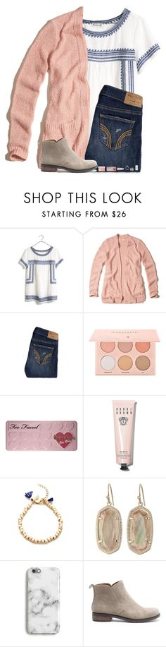 """bad set"" by hgw8503 ❤ liked on Polyvore featuring Madewell, Hollister Co., Too Faced Cosmetics, Bobbi Brown Cosmetics, Shashi, Kendra Scott, Harper & Blake and Lucky Brand"