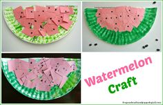 Watermelon Themed Activities For Kids {featured from Mom's Library and this weeks link up 7-30}
