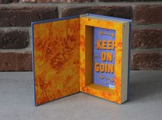 """Hollow book safe """"Keep on going"""" by BookBoxStore on Etsy"""