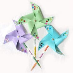 how to make pinwheel pencil toppers