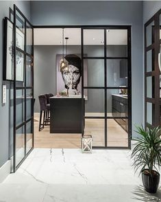 Fab! #blackframe #doors #kitchen #kitchendesign #wallart #kjøkken #interior_delux Cre