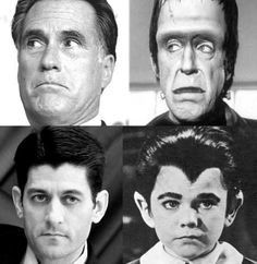 Mitt Romney and Paul Ryan Are Spooky. Maybe that explains their anti-sunlight stance.. Politics, mitt romney, election2012, electoral collegehumor, paul ryan