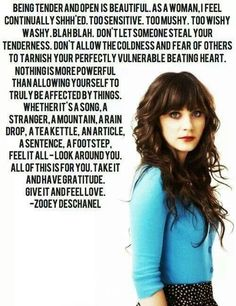 Zooey Deschanel i love her.. one of the few people that inspire me :) shes awesome