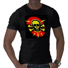 Yellow Skull Shirt by elenaind
