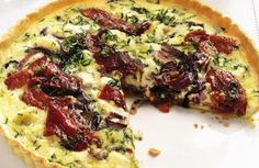 Goat's cheese and pepper tart