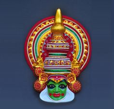 Buy Kathakali Face / Mask online, Latest Kathakali Face / Mask by Culturalshoppe…