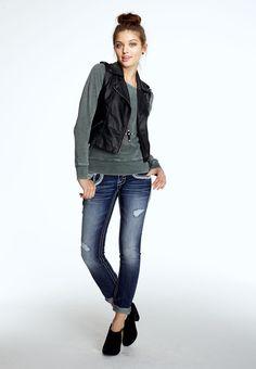 Faux leather zip front vest - maurices.com