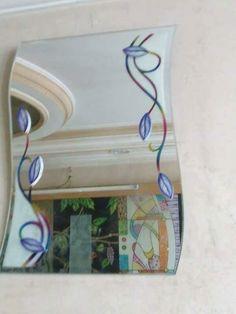 Mirror Design Wall, Building A Deck, Glass Painting Designs, Mirror Designs, Glass Painting, Glass Design, Door Glass Design, Hardwood Doors, Paint Designs