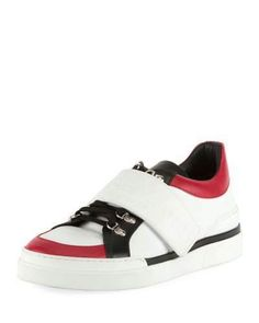 Balmain Tricolor Low-Top Leather Sneaker Balmain Men, Balmain Shoes, Calf Leather, Black Leather, Young Fashion, Shoe Collection, Leather Sneakers, Luxury Fashion, Lace Up