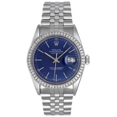Rolex Datejust Mens Stainless Steel & Diamond Automatic Watch 16014 #dad