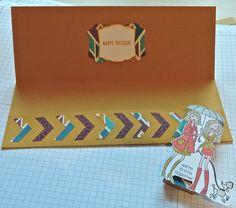 Inside Money Wallet, used chevron punch, Bracket label punch, decorative label punch, Delightful dijon CS, In This Together Stamp set, marker pens
