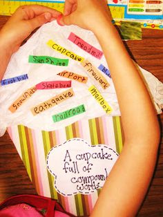 First Grade Wow: A Cupcake Full Of Compound Words--Sweeeeeeeet!