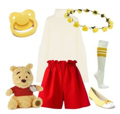 """""""Winnie the Pooh outfit"""" by little-demi-boy ❤ liked on Polyvore featuring Joseph, Fendi and French Sole FS/NY"""