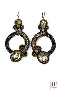 EBR-E585 , embrace , brown earrings , brown hoops , brown hoop earrings , hoop earrings