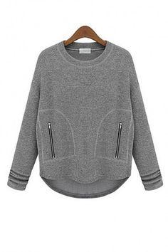 Sudadera diseño con cuello redondo, bolsillos laterales, es perfecto para otoño.