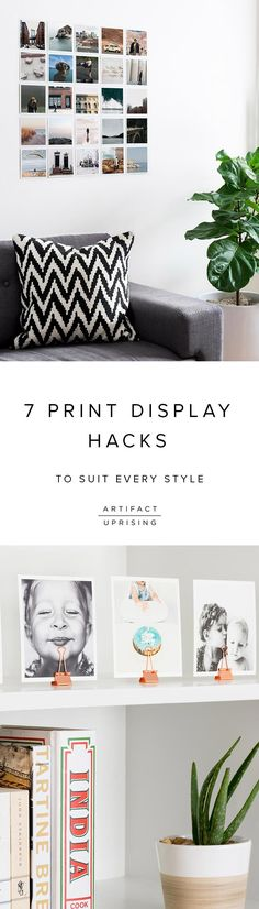 Bare walls – be gone. Take a look at @Artifact Uprising's favorite print display ideas to suit every decor style.