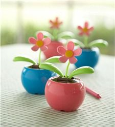 Interior Accessories Automobiles & Motorcycles Precise Home Decorating Solar Power Flower Plants Moving Dancing Flowerpot Swing Solar Car Toy Gift Metal Plastic Free Shipping Hot Reasonable Price