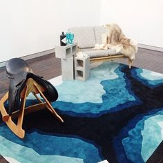 The new MINERAL rug by @bleuxdesign in collaboration with @designerrugs, styled by @maisondemason at our rug launch!! #designerrugs #launchparty #bleuxdesign