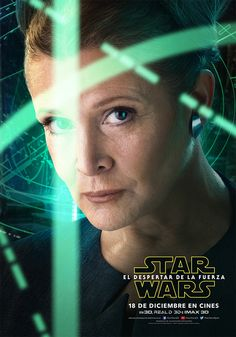 'Star Wars: The Force Awakens' Character Posters Revealed!: Photo Five new Star Wars: Episode VII - The Force Awakens character posters were just revealed: Finn, Rey and Kylo Ren, Han Solo and Leia! Leia Star Wars, Star Wars Holonet, Star Wars Watch, Star Wars Film, Star Wars Poster, Carrie Fisher, Mark Hamill, Luke Skywalker, Star Wars Character