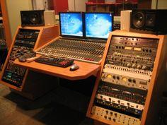 Music studio desk plans I too Homestudioguy I forgot Recording Studio Desk KKEEYY DIY Build Plans Recording Studio Acoustic Panels Should be very Home Studio Musik, Music Studio Room, Sound Studio, Studio Equipment, Studio Gear, Studio Setup, Studio Design, Recording Studio Furniture, Recording Studio Home