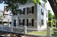 gray house blue shutters - Google Search