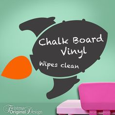 Chalk Board Rocket Ship Vinyl Wall Decal, Boys, Girls, Teens, Toddler, Kitchen Decor, Blackboard, Chalkboard, Science Fiction