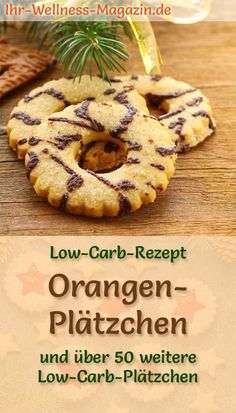 Fast, easy orange cookies without sugar - low-carb recipe with few ingredients; with healthy almond flour, decorated with chocolate - super delicious # Christmas bakery # cookies Low carb orange cookies - simple recipe for Christmas cookies Ihr-Wel Healthy Low Carb Recipes, Low Carb Desserts, Easy Cookie Recipes, Dessert Recipes, Cakes Originales, Low Calorie Cookies, Law Carb, Christmas Biscuits, Christmas Cookies