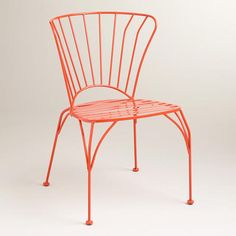 Spicy Orange Cadiz Stacking Chair available in-store only Cost Plus World Market >>  #WorldMarket Outdoor Movie Night