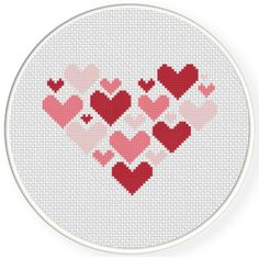 Charts Club Members Only: Hearts On Heart Cross Stitch Pattern