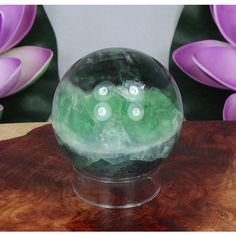 Fluorite Crystal Ball Rainbow Handmade Polished Orb (s41b) Natural... ($50) ❤ liked on Polyvore featuring bath & beauty, grey, massage, massage tools and spa & relaxation