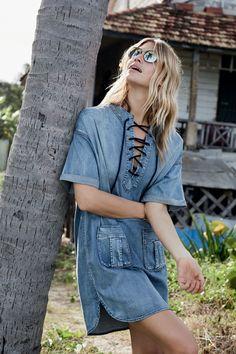 Lässiger Jeans-Style im trendigen Loose-fit. Kleid von summum.